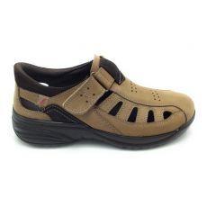 Luisetti 16261 sandalia cerrada nobuck taupe