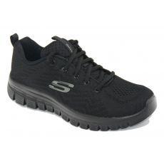 Skechers 12615 deportivo señora cordones negra